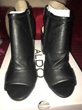 Aldo Womens Barefoot Peep Toe Ankle Strap Mules, Black Size 5UK