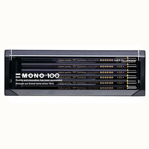 Tombow Japan Mono 100 Hexagonal Wooden Body Pencil - HB - 12 pieces 1 Dozen