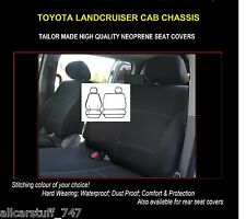 Neoprene seat covers TOYOTA LANDCRUISER Cab Chassis Front Bucket & 3/4 Bench