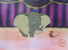 Disney Original Animation Art Cel Dumbo Elephant & Timothy Mouse