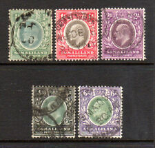 1905 Somaliland Protectorate 40 41 42 45 46, Used Partial Set - KEVII*