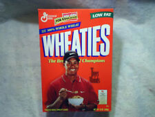 1998 TIGER WOODS WHEATIES CEREAL BOX Empty the breakfast of champions pga golf