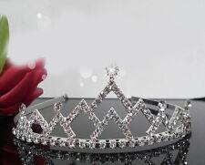 Strass Diadem edle Tiara Haarschmuck Krone Krönchen Strass  Perlen Brautschmuck