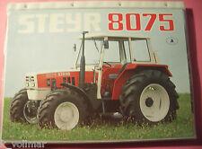 ✪ TRECKER Sales brochures prospetto Steyr TRATTORE 8075 dati tecnici