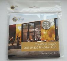 Exclusive Royal Mint Limited Edition £20 Silver Welsh Dragon Coin 2016