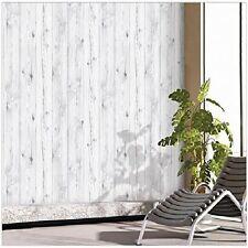 Wallpaper Self Adhesive Peel & Stick Vintage White Wood Panel Pattern Wall Paper