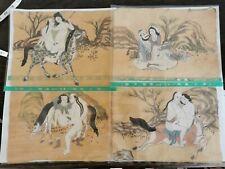 20c antique Chinese/Japanese Erotic Art printing very rare 4 pieces