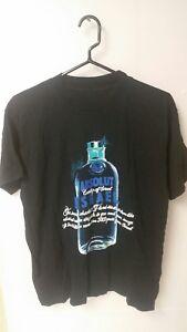 Absoult Vodka Country Of Israel Black T Shirt Men's Large