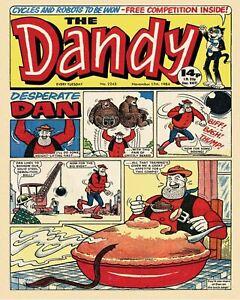 Dandy Desperate Dan  Retro Metal Plaque/Sign, Pub, Bar, Man Cave,