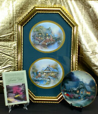 THOMAS KINKADE Weathervane Cottage Plate- Book- Home Interiors Painting EUC