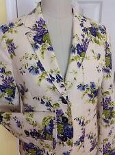 NWOT BROOKS BROTHERS 100% Cotton Lined Ivory & Floral Long Sleeve Blazer/Jacket