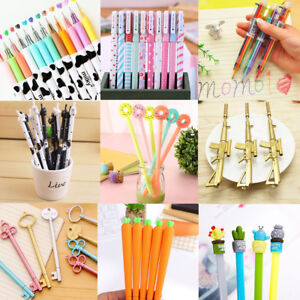 Cute Ballpoint Gel Pen Pencil School Student Stationary Office Writing Wholesale