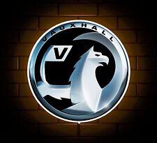 VAUXHALL BADGE SIGN LED LIGHT BOX MAN CAVE GARAGE WORKSHOP GAMES ROOM BOYS GIFT