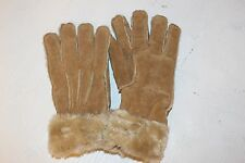 Wilson Leather Maxima 100% Genuine Leather Woman SZ XL Gloves Tan with Faux Fur