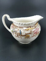 Vintage Devonshire Johnson Bros Brothers China England Creamer Flowers, Bird