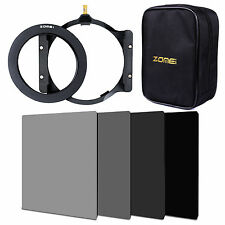 ZOMEI 100mm ND2+ND4+ND8+ND16 filter+72mm ring+holder+16 slotCase For Cokin Z LEE