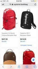 supreme backpack Black Ss17