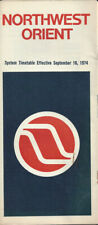 Northwest Orient Airlines system timetable 9/16/74 [0112]