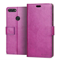 RIFFUE Huawei P Smart Case, Luxury Slim PU Leather Silicone Flip Cover Thin Book