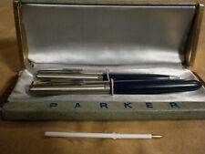 PARKER 21 FOUNTAIN PEN & MATCHING LIQUID LEAD PENCIL VG+++ IN CASE Fast Ship