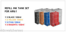 Replace Ink Tank Set filled with ink for AIR60,61,62,63 Auto Ink Refill machine