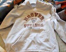 new ladies sz sm sweatshirt nwt my town originals hoover vikings gray hooded