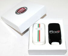 Fiat 500X Pair or Key Remote Covers Black + White Italian New Genuine 52002327