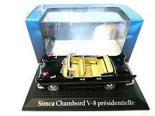 Simca Chambord V-8 J.F. KENNEDY 1:43 NOREV ATLAS DIECAST MODEL CAR