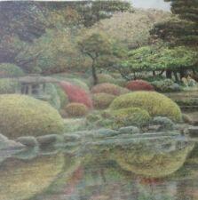 "HAROLD ALTMAN ""Shinjuku Gyoen Garden"" signed Orig Lithograph 89/285 Tokyo, Japan"