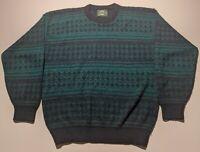 Vintage Jantzen Mens Large Geometric Acrylic Pullover Sweater