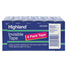 Highland 6200k6 Invisible Permanent Mending Tape 1 Core 34x8333 Ft