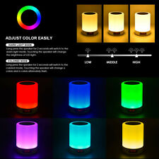 Bedroom LED Night Light Dimmable Warm & RGB Colour with Bluetooth Speaker Lamp