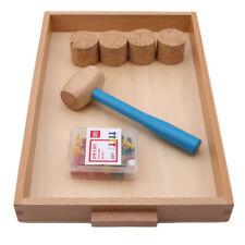 Wooden Baby Toddler Toys Activity Montessori Sensory Threading Toy LI
