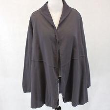 NWT Neon Buddha Woman Dark Grey Conversation Shawl 100% Cotton Cardigan Top 2X