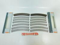BN892-1# 24x Roco H0/DC 42424 Gleis/Gleisstück gebogen R4/R 4, NEUW+OVP