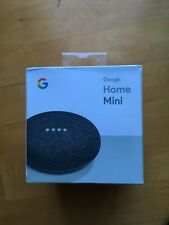 GOOGLE HOME MINI SMART ASSISTANT CHARCOAL GRAY *NEW IN SEALED BOX*