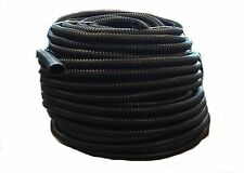 "100 FT - 1/2"" INCH BLACK SPLIT LOOM WIRE HOSE COVER CONDUIT POLY TUBE TUBING 4"