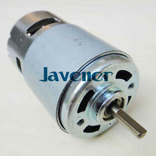 NEW 775 DC Motor Oblate D Style Axle 12V Mini Generator DIY High Torque &Bearing
