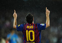 STICKER AUTOCOLLANT POSTER SPORT FOOTBALL MESSI N°10 F.C.BARCELONE.LIGUE 1.