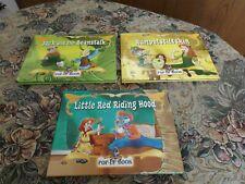 Lot 3 Kid's Pop Up Books Little Red Riding Hood Jack & Beanstalk Rumpelstiltskin