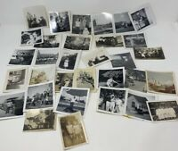 Black and White Random Picture Photograph Vintage Antique 1940s Lot Of 32 Rare