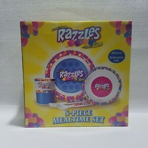 Razzles 5 Piece Mealtime Set Candy Gum Child's Dinnerware Breakfast Lunch Plates
