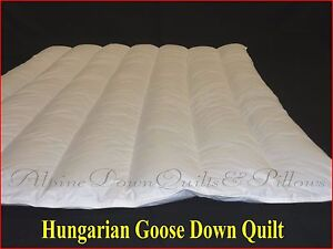 KING SIZE QUILT/DUVET 95% HUNGARIAN GOOSE DOWN  5 BLANKET 100% COTTON COVER