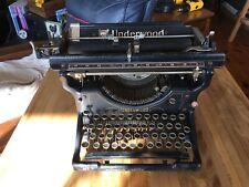 Nice Looking Vintage Underwood Standard Typewriter NO.3 Serial # 422665-12