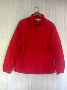 Nike Golf Women's Clima Fit Pullover Jacket Medium Red