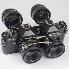 Yashica FX-d Quartz 35mm estéreo-SLR con cuanto 2x Yashica 55 & 35mm (fn017147)