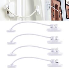 4x UPVC Window Restrictor Safety Cable Lock Wire kids Child Security Locks