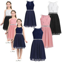 Flower Girl Princess Dress Kids Party Wedding Bridesmaid Formal Pageant Dresses