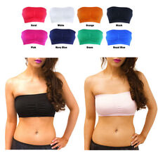 Fashion Womens Seamless Strapless Non-Padded Plain Top Tube Bandeau Bra 8529