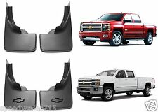 Genuine OEM GM Molded 2014-2016 Chevy Silverado Mud Flaps Front + Rear New